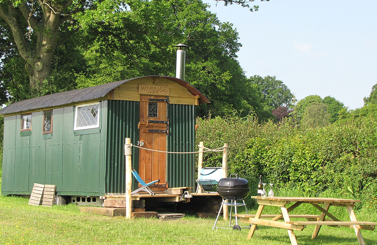 Shepherds Hut in Wildflower Meadow