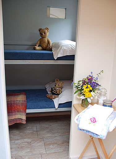 Bunk beds, teddy bears